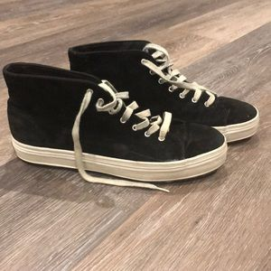 Keds faux suede high top 90s inspired sneakers